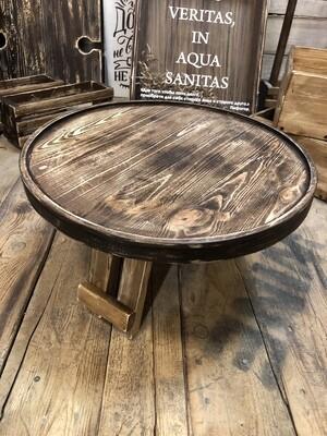 Винный столик из дерева (коричневый состаренный)