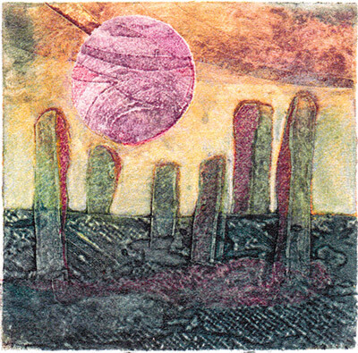 Cards - Callanish Collagraphs - Pack 6