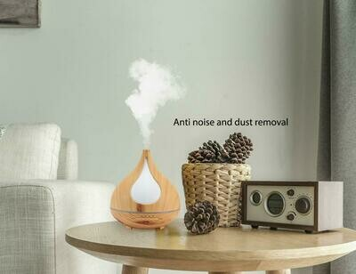 Aroma Essential Oil Diffuser - Water Drop Bamboo Natural