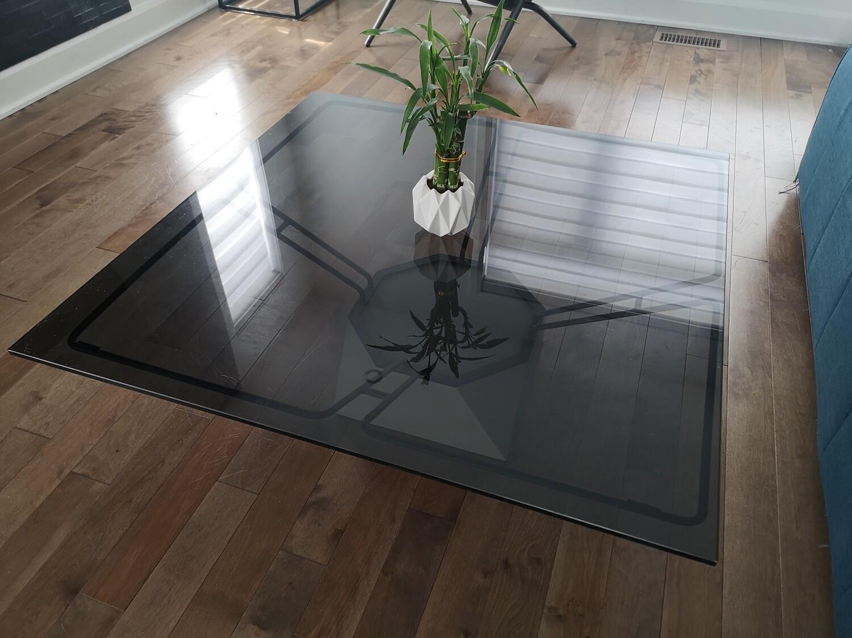 Germain Lariviere Glass Coffee Table