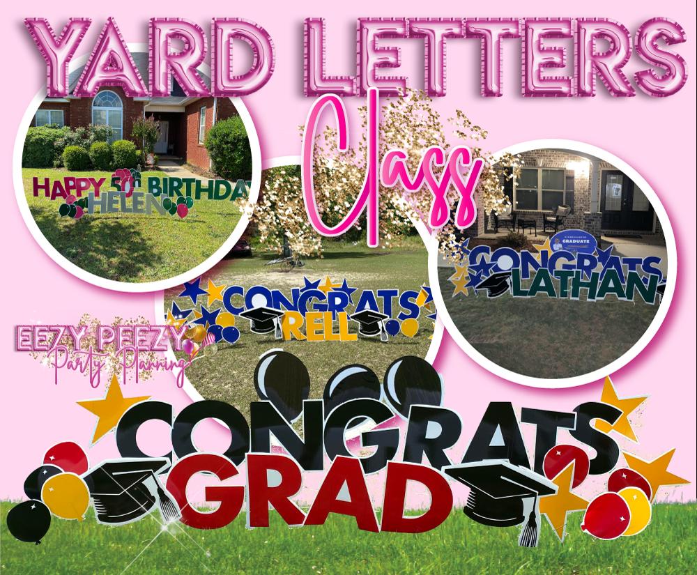 EZPZ Yard Letter Class
