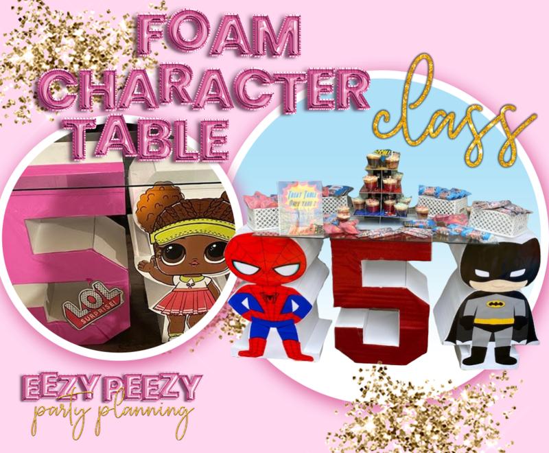 EZPZ Foam Character Table