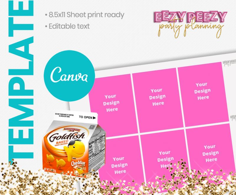Canva • Mini Goldfish Box Label