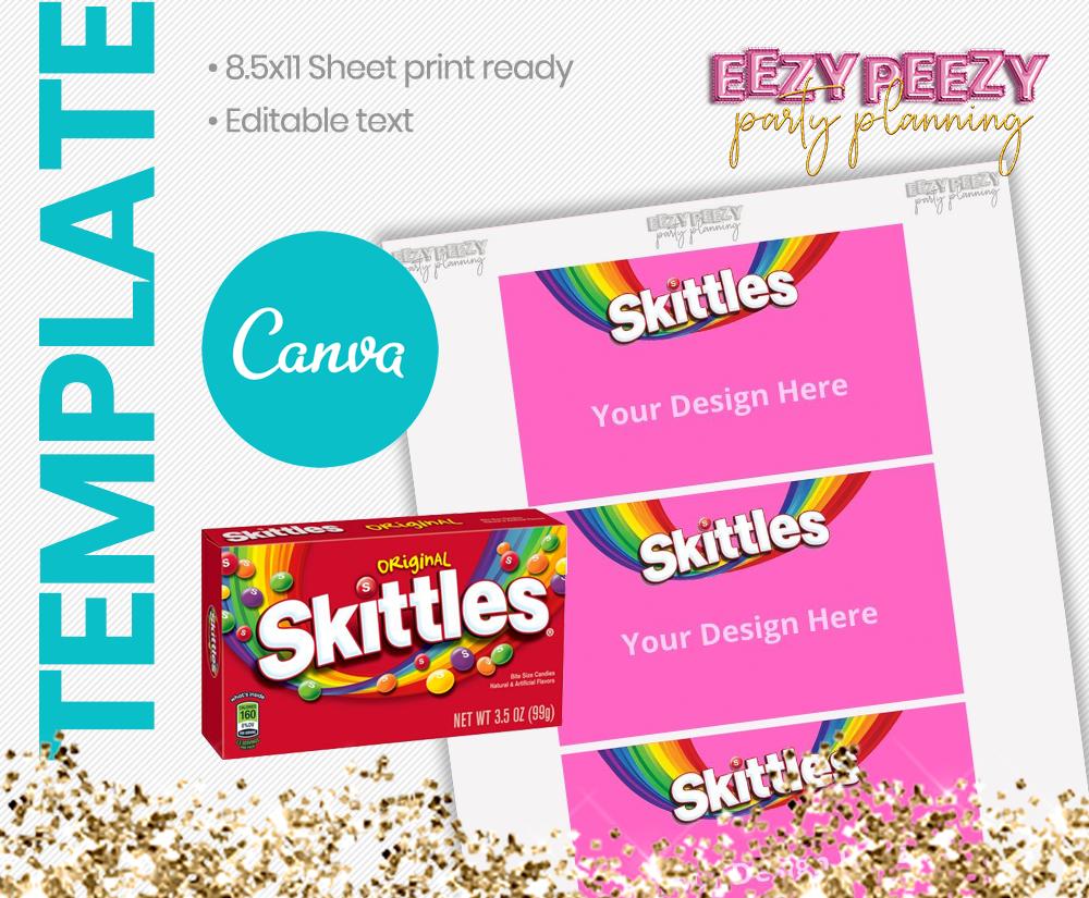 Canva • Skittles Box Label