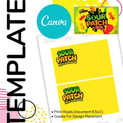 Canva • Sour Patch Box Label