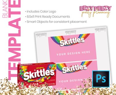 PSD • Skittle Box Label