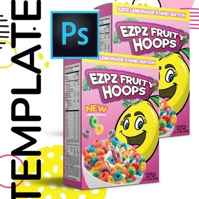 PSD • Mini Cereal Box Template