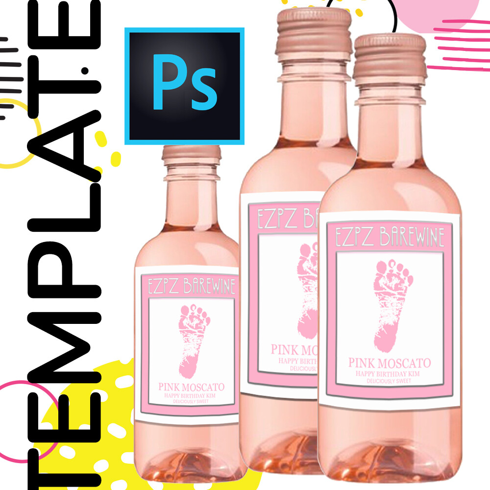 PSD • Mini Wine Label Template