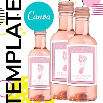 Canva • Mini Wine Label Template