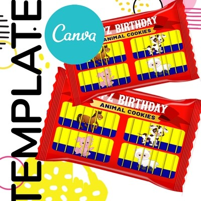 Canva • Animal Cookie Template