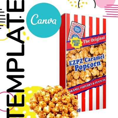 Canva • Caramel Popcorn Template
