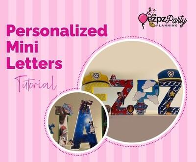 Ezpz Personalized Mini Letters