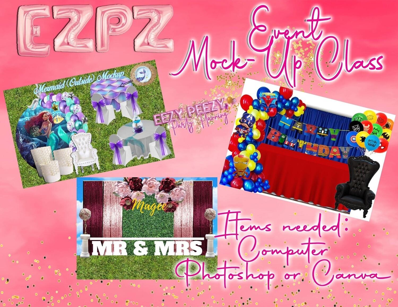Ezpz Event Mock Up Tutorial