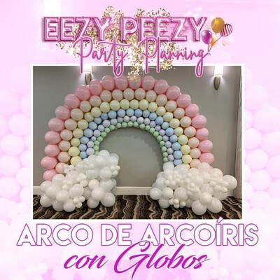 Ezpz arco De Arcoíris Con Globos