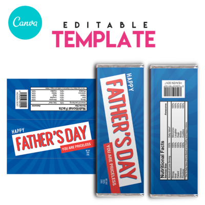 Krunch . Chocolate Candy Bar label . Editable Template . Canva