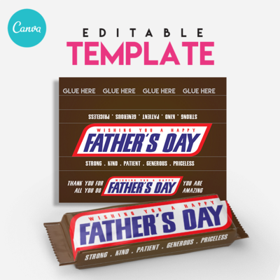 Snicker . Chocolate Candy Bar Editable Template . Canva