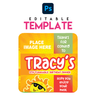 EZPZ Eats. Lunchable . Editable Photoshop Template.