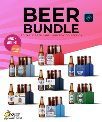 Ezpz Drinks. Beer. Bundle. Photoshop template