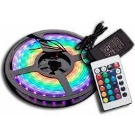 Led RGB multi color -5 metros + fuente + control
