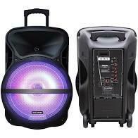 "BAFLE AMPLIFICADO 15"" USB/BT/ CON LUCES DE LED"