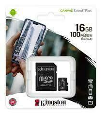 Memoria Microsd Sd 8gb 16 Gb Original Kingston Clase 10 Telefono Celular Camara