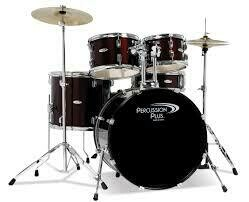 Percussion Plus 5 piece Drum Set with Cymbals