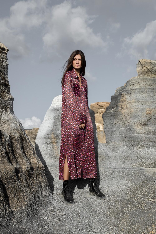 Long dress in Leo print