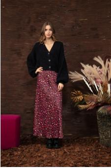 Long skirt in leo print