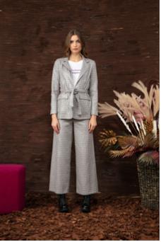 Lila checkered blazer