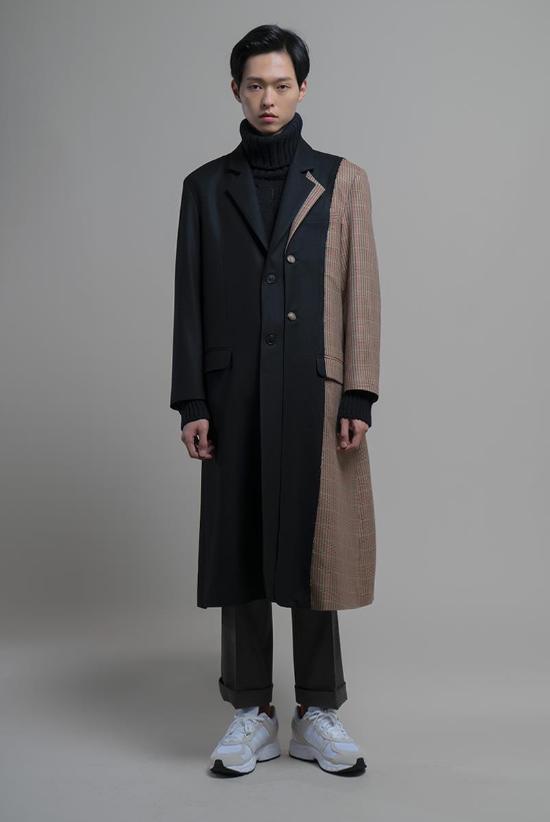 Overfit unbalance coat