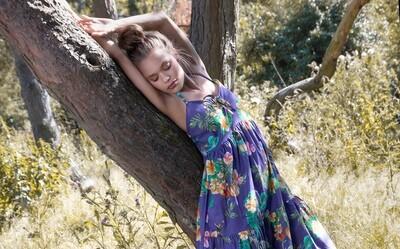 Dress in circus print