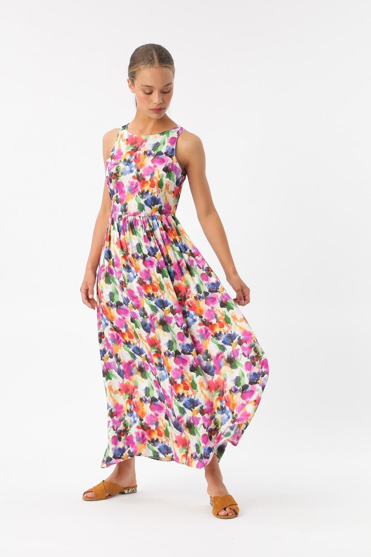 Maxi dress flou flower