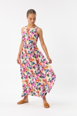 Maxi dress flou flower
