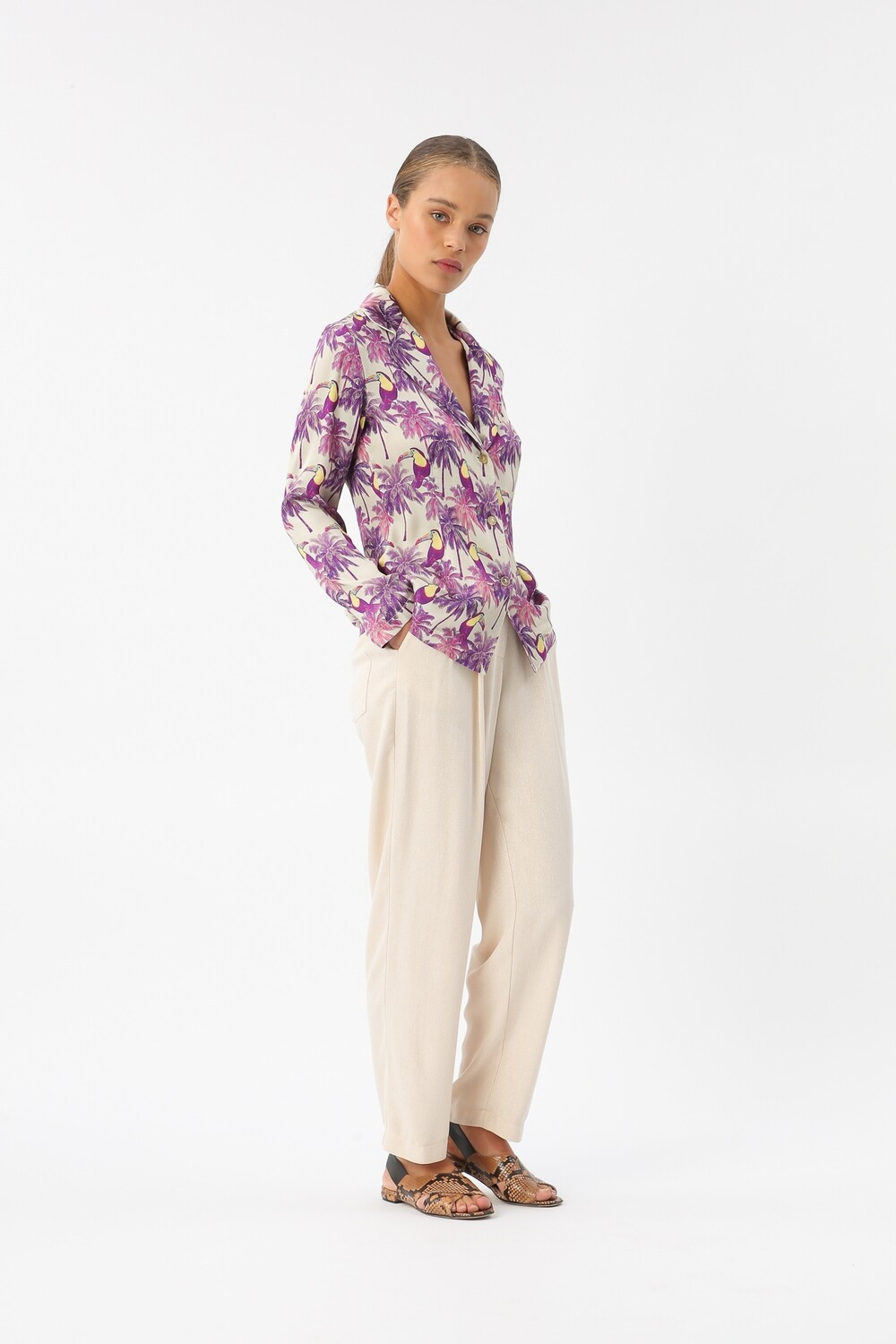 """Blouse in """"day tropic"""" print"""