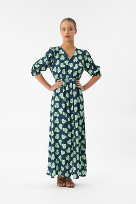 Maxi dress night flower