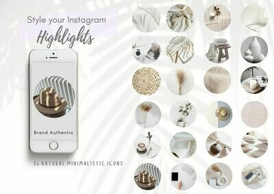 36 Minimalistic Life Instagram Highlight Icons | Nude, Neutral theme