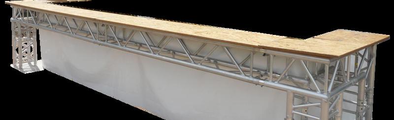 Bar en structure aluminium de 4m