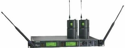 Shure UR4D avec 2 émetteurs de poche