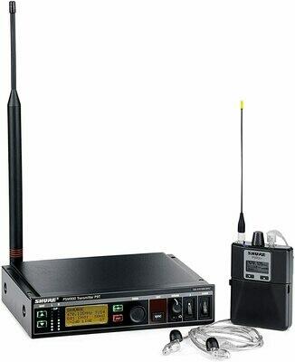 Shure PSM900 (ear monitor) + SE215