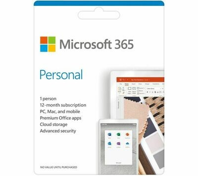 MICROSOFT 365 Personal - 1 year for 1 user