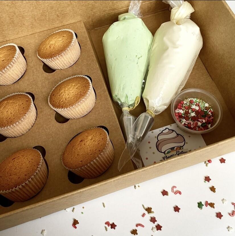BOX CUPCAKES DE NOËL A DECORER
