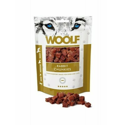 WOOLF Rabbit Chunkies triušienos skanėstai 100 g