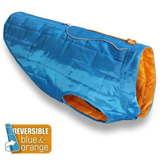 Kurgo  striukė - paltas šuniui mėlynos/oranžinės sp.