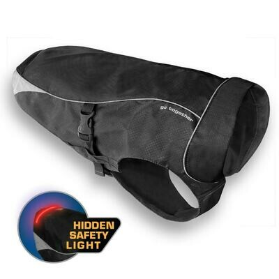 Kurgo North Country neperšlampantis paltas šunims su led šviesa, juodos sp.