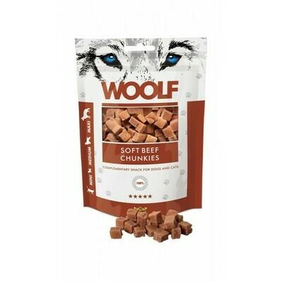 WOOLF Beef Chunkies jautienos skanėstai 100 g