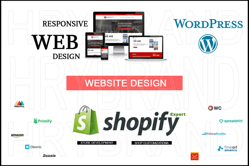 I will Design Business And E-commerce Website on Wordpress, Shopify, Etsy