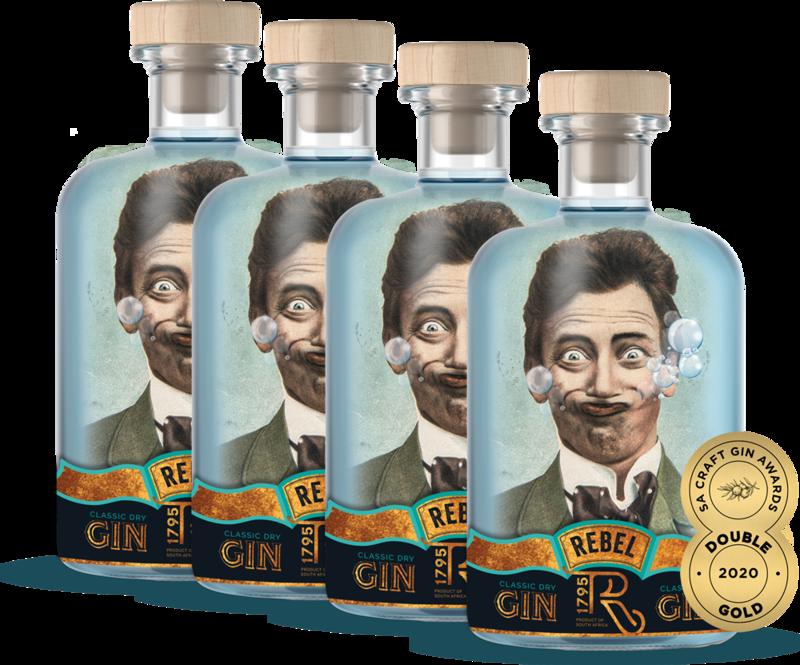 REBEL Gin (4 x 750ml)