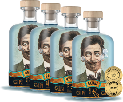 REBEL Gin (4 x 750ml)