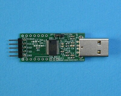 Конвертер USB-UART на микросхеме FT232RL