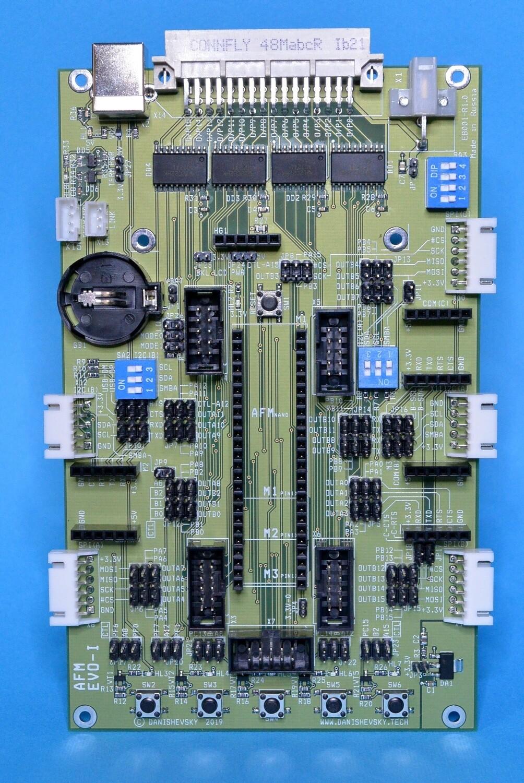 Плата EVO-I для экспериментов с модулями AFMnano M1, M2, M3